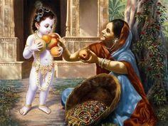 Childhood of Lord Krishna, Indian Classical Tale, Mahabharata Baby Krishna, Krishna Lila, Little Krishna, Lord Krishna Images, Radha Krishna Pictures, Radha Krishna Photo, Krishna Photos, Arte Krishna, Yashoda Krishna