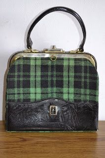 Handmade, Vintage - Pixalia - haine si accesorii faine: Geanta vintage din tapiterie ecosez