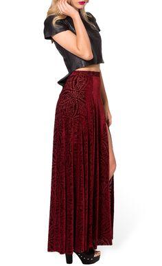 New 2014 Black Milk Skirts Womens Long Maxi Skirt Sexy Velvet Wine Split Skirts Female High Waist Skirts For Women Plus Size