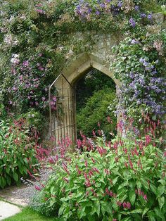 "The Secret Garden ✿⁀° ""Garden design could be compared to the art of dressing women. There is the clothing industry & there is the haute couture. The Secret Garden ✿⁀° Garden Doors, Garden Gates, Garden Entrance, Patio Doors, The Secret Garden, Secret Gardens, Garden Cottage, Garden Bar, Herb Garden"