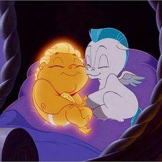 Baby Hercules and baby Pegasus