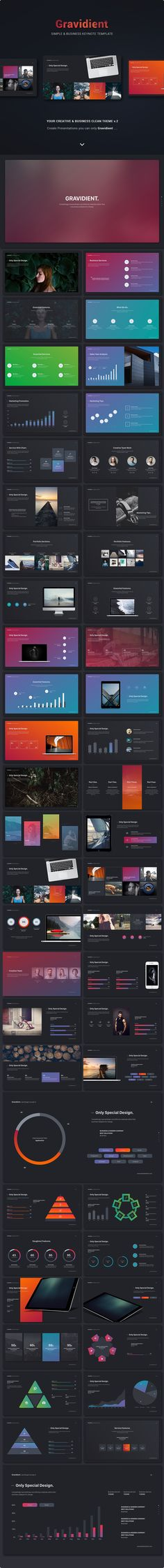 Gravidient Simply Creative Template Get a modern Keynote Presentation that is beautifully designed and functional. This slides comes with infographic elements, charts graphs and icons. This...