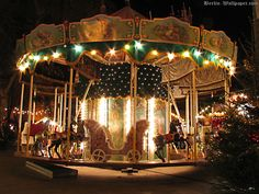 Berlin's old carousel at a historical christmas market is a very rare a attraction.
