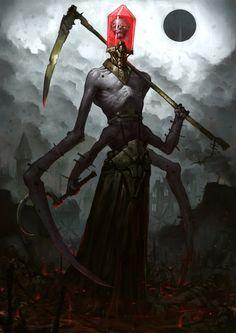 Reaper by Bogdan Rezunenko, skeleton form of my Addiction Demon