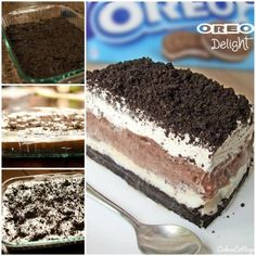 No Bake Oreo Delight with Chocolate Pudding
