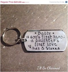 FATHERS DAY SALE Dad a sons first hero  a by ILLBECHARMED on Etsy