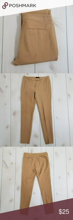 Fenn Wright Manson Tan Jeggings * Size: 6 * 70% Viscose, 26% Nylon, 4% Elastane  * Stretchy * 2 Snap, 1 Button, Zipper Closure  * 2 Front Mock Pockets  * 2 Back Pockets * Stops at the ankle * There's a little loose thread on left leg, see pictures for details. Otherwise in Very Good Condition  * From a smoke & pet free home Fenn Wright Manson Pants Leggings