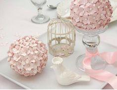 Paper pomander- flower balls