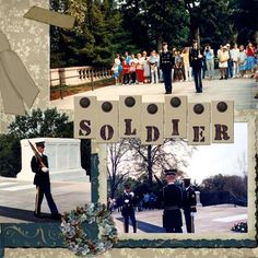 Washington DC Trip: Tomb of the Unknown Soldier Scrapbook Sketches, Scrapbook Page Layouts, Scrapbooking Ideas, Vacation Scrapbook, Disney Scrapbook, Best Vacations, Vacation Trips, Washington Dc Vacation, Boston Vacation