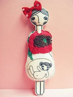 Waiting for a girl by LedannaPatchwork on Etsy, $25.00
