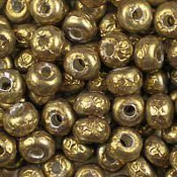 Antique Brass Baroque Pearl glass seed beads, colour number 3955, medium brown, with a baroque pearl-type finish. UK seller.