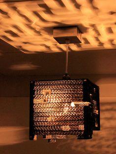 Suspendus au plafond pendentif lanterne écologique Illuminati artistique fait main allume la lampe