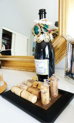 DIY: Repurposing Wine Bottles As Jewelry Holders - Miss Sophisticate