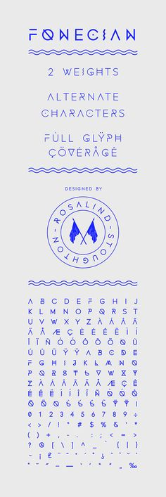 Fonecian Typeface by Rosalind Stoughton on Behance