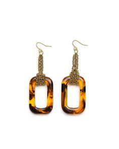 The Tortoise Deco Earrings by JewelMint.com, $29.99