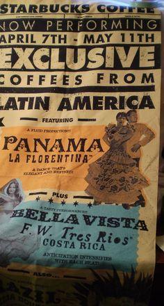 Starbucks Banner 1999 for Latin American Coffee Panama #Starbucks