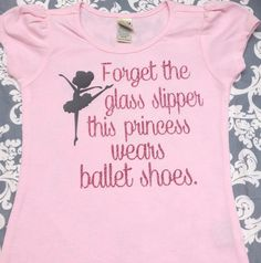 Ballerina Shirt Girls Ballet Shirt Princess by sweetsignature