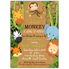 Jungle+Friends+Baby+Shower+Invitations
