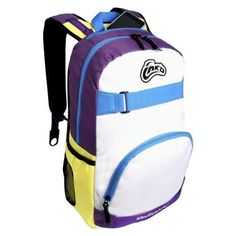 Skullcandy INKD Antic Backpack  PurpleWhiteYellow * To view further for this item, visit the image link.