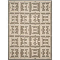 Safavieh Courtyard Grey/Cream 5 ft. 3 in. x 7 ft. 7 in. Indoor/Outdoor Area Rug-CY6937-65-5 - The Home Depot
