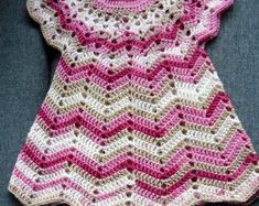 crochet dress baby dress by silkeskreativecke on EtsyItems similar to Girls dress pillowcase dress vintage blue on EtsyEasy to make dress [ sweet drThis Pin was discovered by Abi Crochet Dress Girl, Baby Girl Crochet, Crochet Baby Clothes, Crochet Cardigan, Crochet For Kids, Crochet Shawl, Crochet Stitches, Crochet Baby Dresses, Pull Crochet