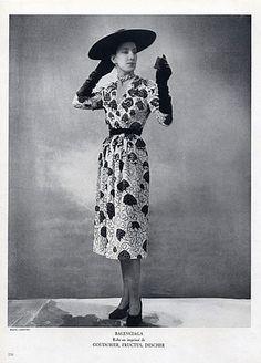 1947 Balenciaga  Summer Dress, photo Lipnitsky