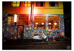 Urban Street Art Photography, Graffiti Nights, Vesper photos, Graffiti photos, Scooter Photography, Urban Grunge Decor, Melbourne Photos