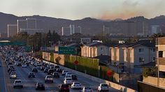 Traffic is jammed on the northbound 405 Freeway - LA Times