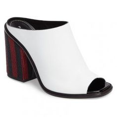 Proenza Schouler White Leather Heel Mules - 40% Off