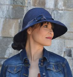 Hey, I found this really awesome Etsy listing at https://www.etsy.com/listing/196382386/navy-blue-large-brimmed-straw-hat