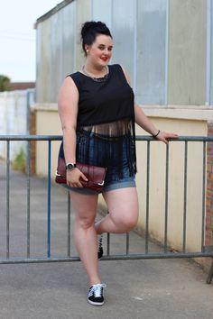 MaGGníficas: Look Plus Size: Cropped, Shorts e Quimono! Plus Size Fashion Blog, Curvy Fashion, Love Fashion, Girl Fashion, Fashion Outfits, Fashion 2016, Look Plus Size, Plus Size Casual, Plus Size Women