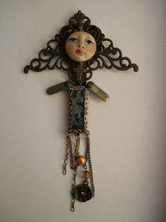 cool art doll - altered art