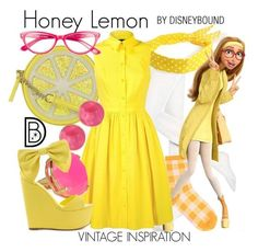 """Honey Lemon"" by leslieakay ❤ liked on Polyvore featuring Hue, Kate Spade, Karen Millen, Saachi, Privileged, Corinne McCormack, disney, disneybound and disneycharacter Cute Disney Outfits, Disney Dress Up, Disney Themed Outfits, Disneyland Outfits, Disney Bound Outfits, Cool Outfits, Casual Outfits, Fashion Outfits, Disney Clothes"
