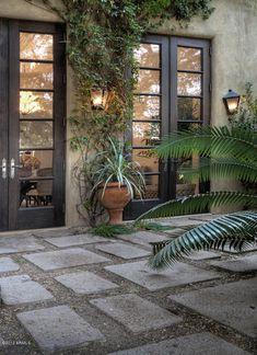 Black doors + patio