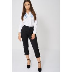 Black High Waisted Trousers Ex-branded