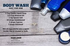 Great smelling DIY Body Wash for men using some awesome essential oils!