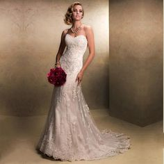 Alimida Wedding Dresses 2016 Backless Sweetheart Plus Size Strapless Corset  Wedding Gowns Custom Made vestidos de 1423bfb0bb8f