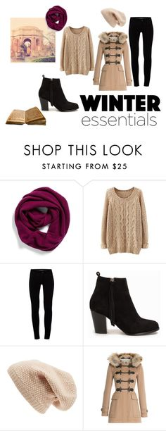 Winter essentials by fashionspecialclothes on Polyvore featuring Burberry, J Brand, Nly Shoes, Halogen and Sole Society