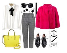 """""""ResembLemon"""" by inna-babich ❤ liked on Polyvore featuring Kate Spade, Jeffrey Campbell, Topshop, BERRICLE, Theory, Yves Salomon, women's clothing, women, female and woman"""