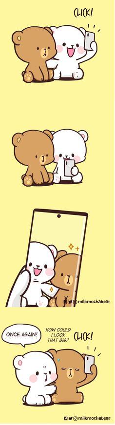 Cute Cartoon Characters, Cute Cartoon Pictures, Cute Love Pictures, Cute Love Gif, Cute Bear Drawings, Cute Cartoon Drawings, Cute Couple Comics, Cute Comics, Chibi Cat