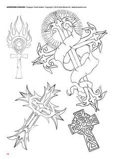 Tattoo flash book №2 - сross | 66 photos | VK