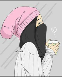 Image in Art ✨ ✨ collection by 𝑁𝑢𝑈𝑟 𝑆𝑎𝑙𝑎ℎ♕ on We Heart It Swag Girl Style, Tmblr Girl, Anime Muslim, Muslim Hijab, Islam Muslim, Hijab Drawing, Islamic Cartoon, Bff Drawings, Lovely Girl Image