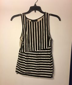 SANCTUARY Women's Sleeveless Striped Top Slit in Back Size Small (S)- Excellent! | eBay