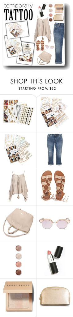"""""""Temporary Tattoo"""" by nemesisktn ❤ liked on Polyvore featuring beauty, Flash Tattoos, Silver Jeans Co., Sans Souci, Billabong, Le Specs, Terre Mère, Sigma Beauty, Bobbi Brown Cosmetics and MICHAEL Michael Kors"""
