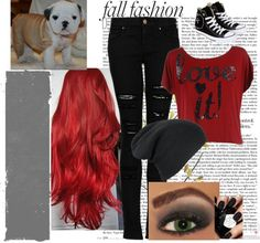 """Walking around Town with Cuddles:(Bulldog puppy)"" by ashleigh-nairn ❤ liked on Polyvore"