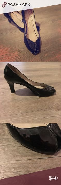 Marc Jacobs black peep toe heels Very sexy Marc Jacobs black peep toe heels. Great condition. Only lightly scuffed around peep toe as shown in picture. You cannot tell when wearing. Marc Jacobs Shoes Heels