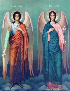 The Archangels oversee and guide Guardian Angels who are with us on earth. The most widely known Archangel Gabriel, Michael, Raphael, and Uriel. Angels Among Us, Angels And Demons, Religious Icons, Religious Art, St. Michael, Michael Gabriel, Saint Gabriel, I Believe In Angels, Angels In Heaven