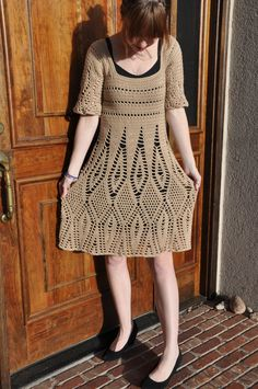 Diana's Dress in taupe by SansLimitesCrochet on Etsy, $120.00