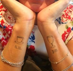 Martini Glass Tattoo: 27 Coolest Tattoo Ideas for Drinkers - Supercall Bff Tattoos, Finger Tattoos, Sleeve Tattoos, Cool Tattoos, Tattoo Quotes, Tatoos, Forearm Tattoos, Wine Tattoo, Tattoo Ink