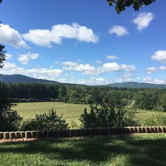 It's a beautiful day to be setting up for a #wedding! And the view ain't so bad either! ;) #naumkeag #intheBerkshires #weddingplanner #onthemove #ilovemyjob #mountains #clouds